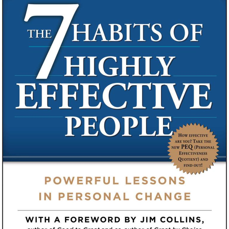 Suggested Reading - 7 Habits Of Highly Effective People by Stephen R. Covey