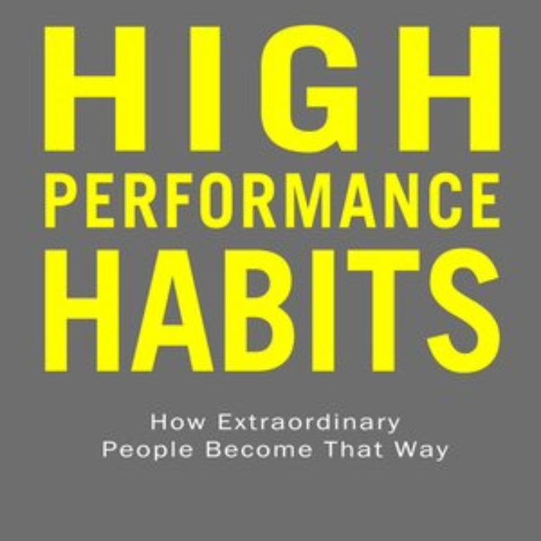 Suggested Reading - High Performance Habits by Brenden Burchard